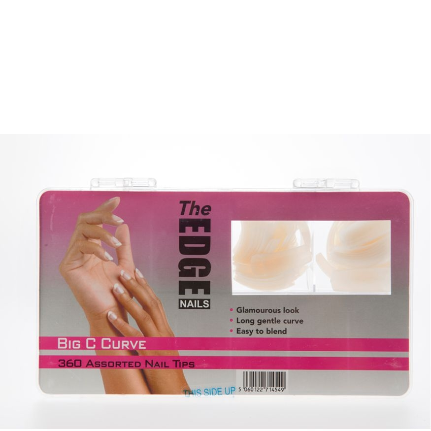 The Edge Nail Tips Big C Curve 360 Assorted [5060122714549] £15.50 ...