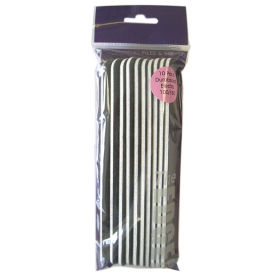 The Edge Duraboard Electra Nail File 100/180 Grit 10 Pack