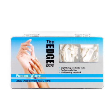 The Edge Nail Tips French white 360 Assorted