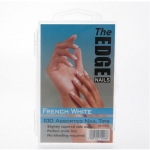 The Edge Nail Tips French white 100 Assorted